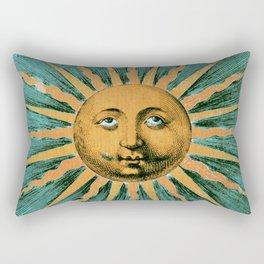 Vintage Sun Print Rectangular Pillow