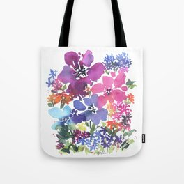 Pretty Poppy Patch Tote Bag