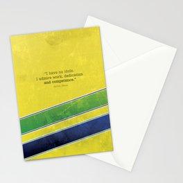 Ayrton Senna - I have no idols Stationery Cards