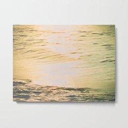 Squint -- Lomo Sunrise on the Surf Metal Print