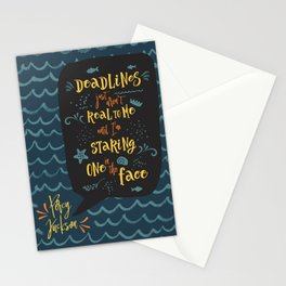 Deadlines. Percy Jackson Stationery Cards