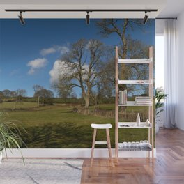 Winter Clouds over the Mendip Hills. Wall Mural