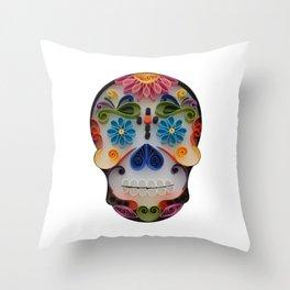 Happy Mexican Calavera Throw Pillow