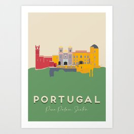 Pena Palace, Sintra, Portugal Travel Poster Art Print