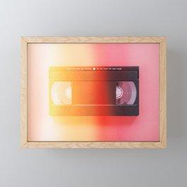 VHS#exposure#film#effect Framed Mini Art Print