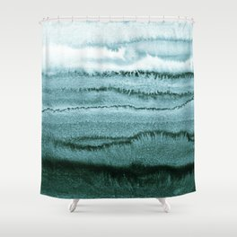 WITHIN THE TIDES - OCEAN TEAL Shower Curtain