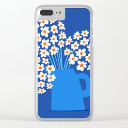 Abstraction_FLORAL_Blossom_001 Clear iPhone Case