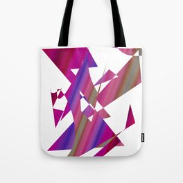 geometrical abstract colored shapes of purple Tote Bag