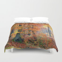 Colorful Autumn Fall Forest Duvet Cover