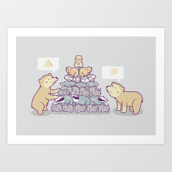 Bearamid Art Print