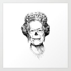 The Warming Dead! The Queen. Art Print