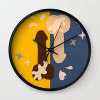penis Wall Clocks featuring Felt Penis: 69 by BRENT PRUITT