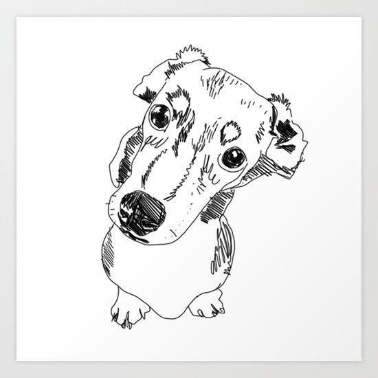 Mini Dachschund Art Print