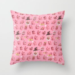 Rosa the Pig Pattern Throw Pillow