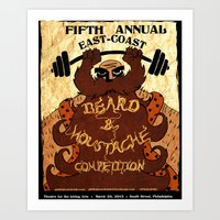 Beard and Moustache Competition Art Print