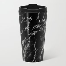 Black magic marble Metal Travel Mug