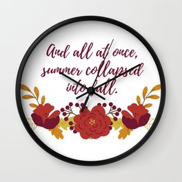 Summer Collapsed Into Fall Wall Clock