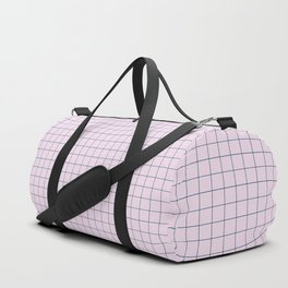 Not Your Granny's Square Pattern in Millennial Pink Duffle Bag