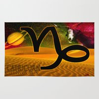 capricorn Area & Throw Rugs featuring Capricorn by LBH Dezines