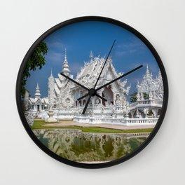 White Temple Thailand Wall Clock