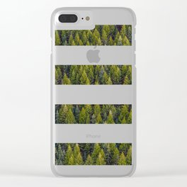 stripes beyond the pines Clear iPhone Case