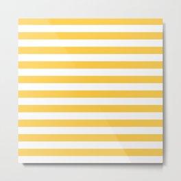 Stripes (Orange & White Pattern) Metal Print