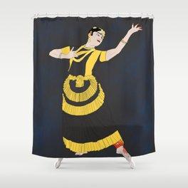 Mohiniyattam Classical Dance Kerala India Shower Curtain
