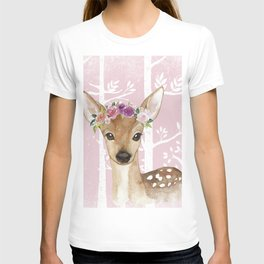 Animals in Forest - The Little Deer T-shirt