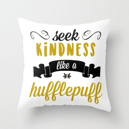 seek kindness Throw Pillow