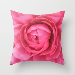 Petals in the Pink Throw Pillow
