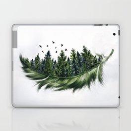 Earth Feather • Green Feather (horizontal) Laptop & iPad Skin