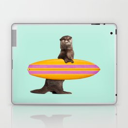 SURFING OTTER Laptop & iPad Skin