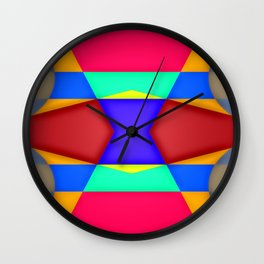 Shadows over colorfields ... Wall Clock