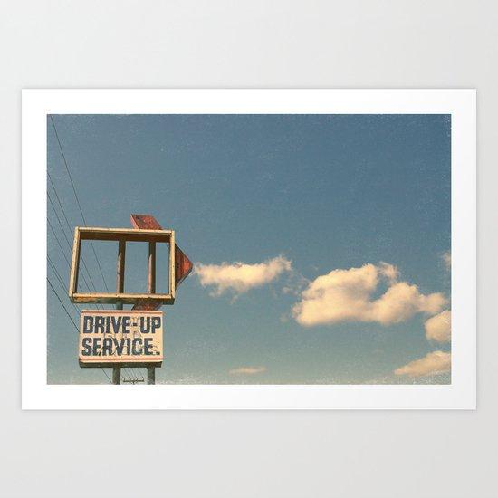 Drive Up Art Print