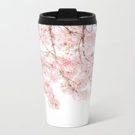 Pink Blooming Cherry Trees Metal Travel Mug