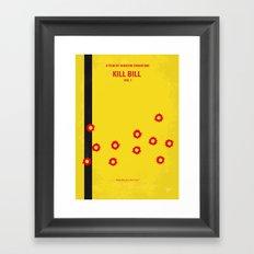 No048 My Kill Bill -part 1 minimal movie poster Framed Art Print