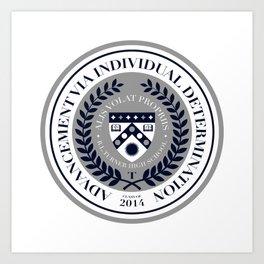 'El Presidente' Full AVID Official Seal (Senior 2014) Art Print