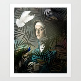 Eve in the Garden Art Print
