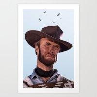 clint barton Art Prints featuring Clint by Mark Hammermeister
