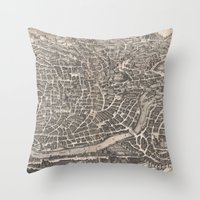 rome Throw Pillows featuring Rome  by Le petit Archiviste