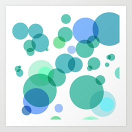 Blue Bubbles Art Print
