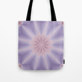 Pink and Lilac 3D Flower Three Tote Bag