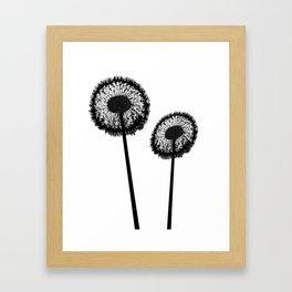 Black Dandelions Framed Art Print