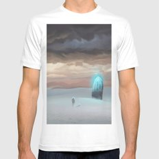 Ancient Obelisk MEDIUM White Mens Fitted Tee