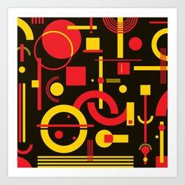 CHE red&yellow w/black Art Print