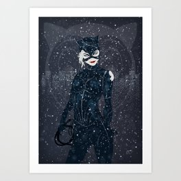 ME-OW. Catwoman Returns Art Print