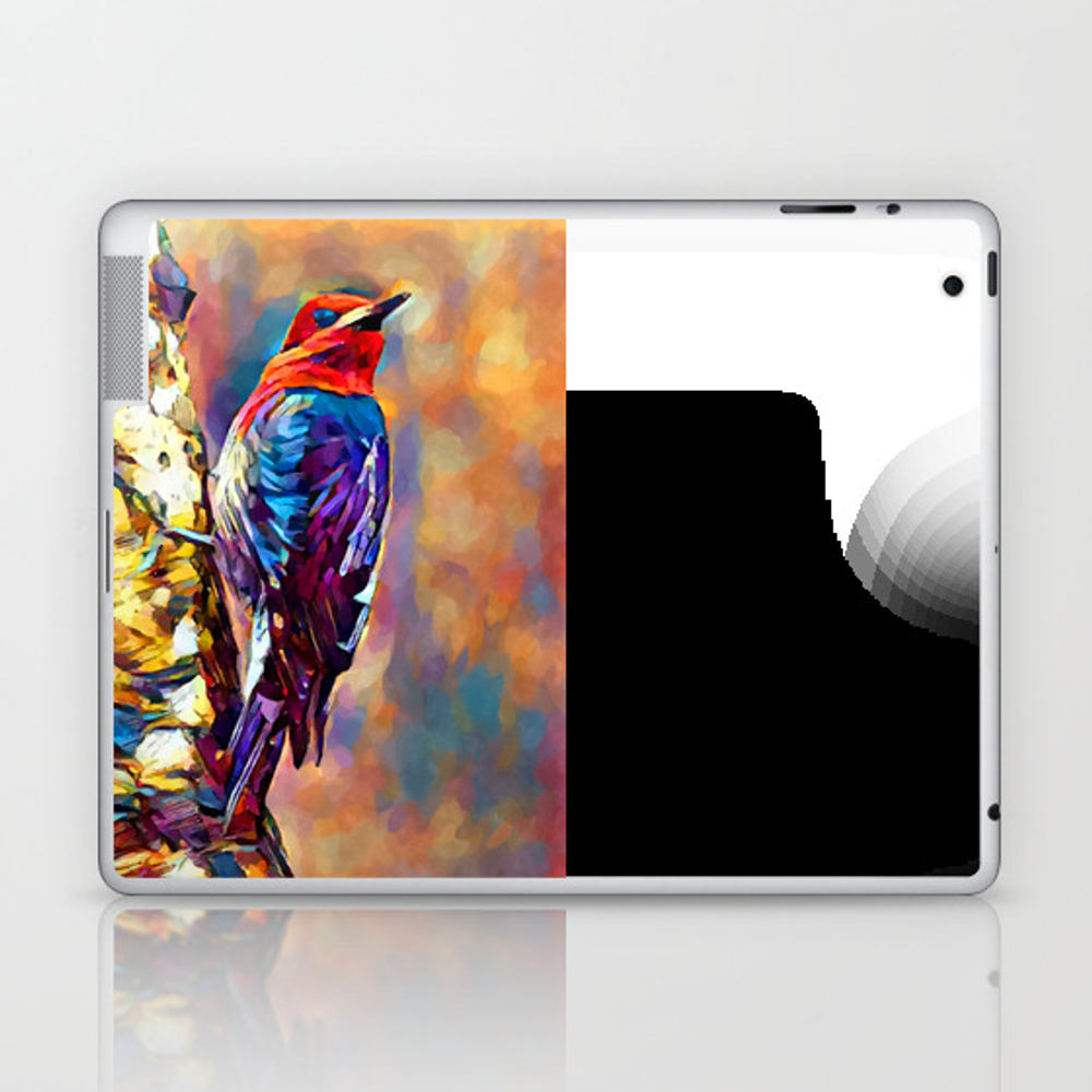 Red-breasted Sapsucker Laptop & Ipad Skin by Shrenk (LSK9010163) photo