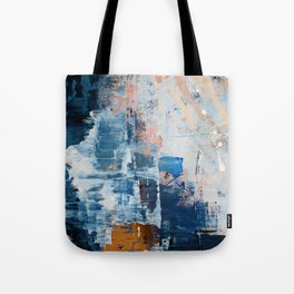 Shapes in the Clouds: a vibrant mixed-media piece in blues and pinks by Alyssa Hamilton Art Tote Bag