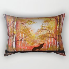 Howling Into The Woods Rectangular Pillow