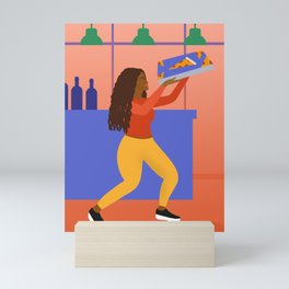 Pizza Soca Mini Art Print